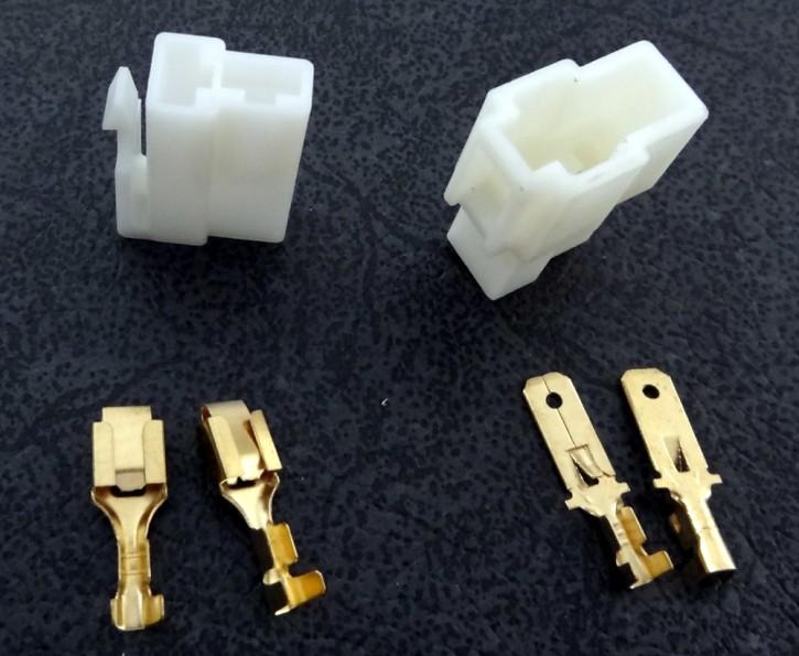 Stecker 2polig mit Flachstecker 6.3mm