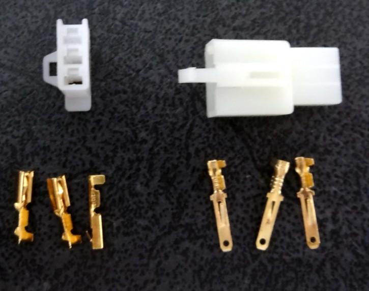 Stecker 3polig mit Flachstecker 2.8mm