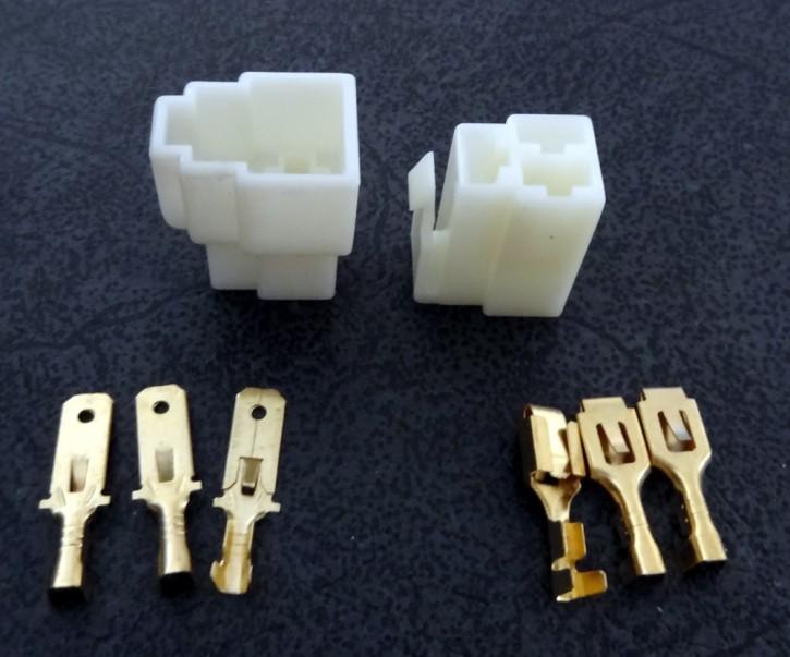 Stecker 3polig mit Flachstecker 6.3mm